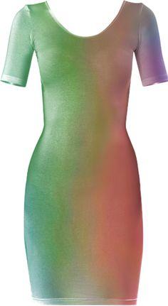 0000000P/Rainbow Love Bodycon Dress