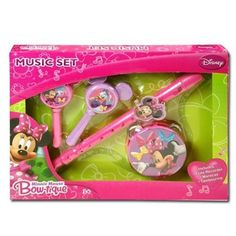 Disney Minnie Mouse Bowtique Music Boxed Set wFlute Maracas  Tamborine ages 3 and up * Read more at the image link.