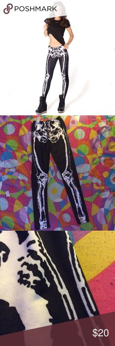 •skeleton leggings•⚡️ Great condition and quality! Have never been worn they look exactly like the picture! Feel free to ask questions :) Pants Leggings