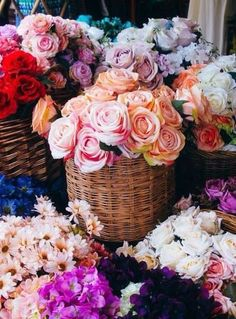 Basket full of flower