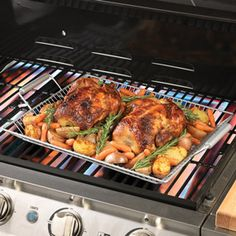 Nonstick Mesh Roasting Pan  Add fire-roasted flavor to poultry, beef brisket, tenderloin or glazed ham using this large nonstick grilling tray.