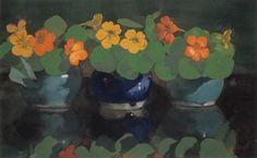 Nasturtiums c. 1894 Jan I Voerman, Dutch, 1857-1941