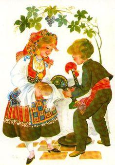 Rumo ao Sul: Barcelos Portuguese Culture, Dance Images, Folk Dance, Love Symbols, Old Postcards, My Heritage, Vintage Posters, Illustrations Posters, Rooster