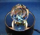 GLASS EYE STUDIO Night Sky Fireball Glass Paperweight Weight 569 TWILIGHT