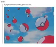 When a legendary pokemon appears.
