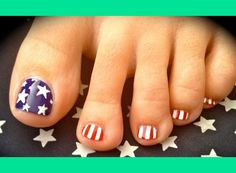 Fourth of July Pedicure