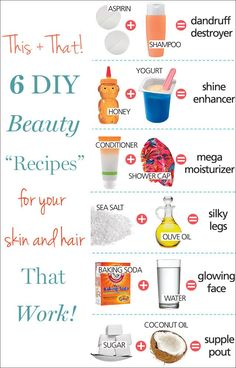 "Love this: save money on beauty products with these easy DIY ""recipes"" that really work!"