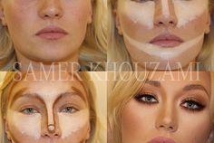 The Art of Contour Makeup.... Creo que si lo intento quedaría como leona pero es bueno saberlo.