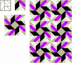 """I designed this 10""""x10"""" block on a 5x5 grid; it is a 5 patch block.   Part of the fun part of designing your own block is you get to co..."""