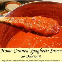 Home Canned Spaghetti Sauce - So Delicious! I don't typically put sugar in my spaghetti sauce but I also understand the importance of keeping the ratios of acidity for canning safety. Homemade Spaghetti Sauce, Homemade Sauce, Spaghetti Sauce For Canning, Spagetti Sauce, Stewed Tomatoes, Canning Tomatoes, Canning Salsa, Canning Food Preservation, Preserving Food