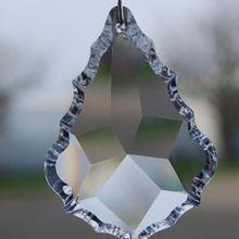( 50 unids/lote ) 76 mm prismas piezas de araña cristal piezas centrales de la boda colgante gotas cristal del ornamento colgante(China (Mainland))