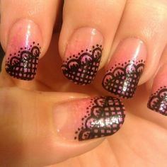 lace nail art | Lace Nail Art Designs | Makeup Tips and Fashion