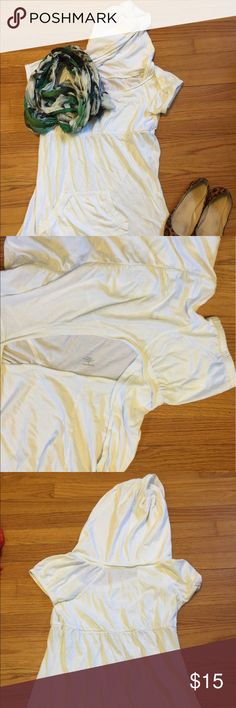 St John's Bay White Hoodie Pullover Dress #A17C_10 Love love love this!  Great pullover hoodie dress with pockets! St. John's Bay Swim Coverups