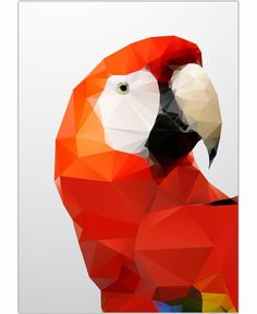 Geo Parrot Red by Three Of The Possessed