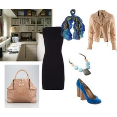 LBD in Natural Style, for office by irenabar on Polyvore featuring Diane Von Furstenberg, H&M, Darling, Alexander McQueen, FOSSIL, Lily and Lionel and Therapy