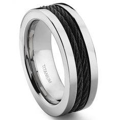 Radiant We Recommend a Titanium Wedding Ring Ideas. Dazzling We Recommend a Titanium Wedding Ring Ideas. Blue Wedding Rings, Wedding Bands For Him, Titanium Wedding Rings, Wedding Rings Simple, Custom Wedding Rings, Titanium Rings, Wedding Men, Wedding Ring Bands, Wedding Jewelry