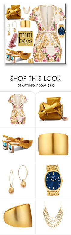 """""""So Cute: mini bags"""" by eldinreham ❤ liked on Polyvore featuring N°21, Gabriela Hearst, Kenneth Jay Lane, Bloomingdale's, Patek Philippe, Ross-Simons, LAQA & Co. and minibags"""