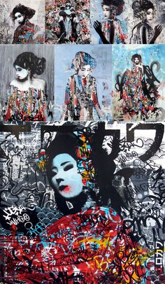 graffiti by HUSH | street artist | grafite | arte urbana | geisha & street…