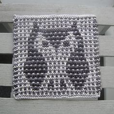 Ravelry: Who Owl Help Cook & Clean pattern by Amy Marie Abstract Sculpture, Wood Sculpture, Metal Sculptures, Bronze Sculpture, Tapestry Crochet, Knit Crochet, Mosaic Patterns, Crochet Patterns, Mosaic Knitting