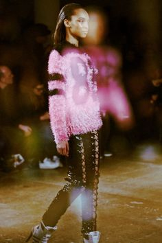 Touchy feely sweaters and lace up trousers at Jeremy Scott AW14 NYFW. More images here: http://www.dazeddigital.com/fashion/article/18827/1/jeremy-scott-aw14