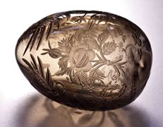 18th century glass Easter egg - Faberge