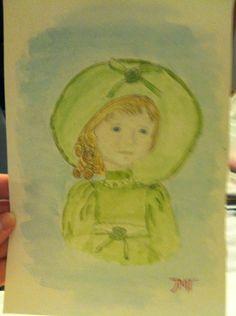Watercolor doll