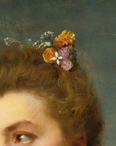 greuze:  Gustave Jean Jacquet (1846-1909)Parisienne (Detail)Oil on panel, 19th Century