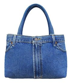 BDJ Classic Blue Denim Jean Pants Women Top Handle Handbag (3CH-012)