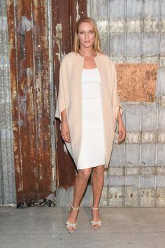 Pin for Later: Die Stars machen die New York Fashion Week noch modischer Uma Thurman bei der Modenschau von Givenchy