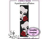 Twin Faces - Beaded Peyote Bracelet Cuff Pattern