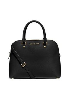 Cindy Large Dome Satchel Bag, Black by MICHAEL Michael Kors at Neiman Marcus.