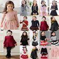 Toddler Girls Long Sleeve Cotton Plai...