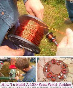 How To Build A 1000 Watt Wind Turbine #DIYHomeEnergySavingMoney