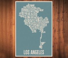 Los Angeles Typography Map