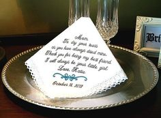 Mother of The Bride Handkerchief   Thank you for by MisterandMrs, $22.95
