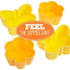Muffinförmchen aus Silikon für Cupcakes und Muffins von Birkmann. Mit tollen sommerlichen Motiven! #Muffinförmchen #Silikonformen