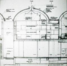 Detail Section: Kimbell Museum, Texas - Louis Kahn - & Gatherer