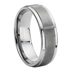 Comfort-fit Tungsten Carbide Wedding Ring with Dual Finish – 9 mm - MTG0004