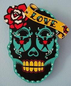 Dia de Los muertos: illustrated ink on etsy
