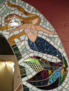 mermaid mosaic patterns | Sand dollar , originally uploaded by bbmowery .