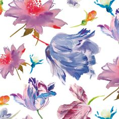 Emma Wren | Blue spring | Make it in Design | Module 3 Student Showcase | The Art and Business of Surface Pattern Design