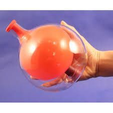 KIT:Use this beautiful glass globe to teach your students about the amazing properties of air pressure. Simply stretch the neck of the balloon over the mouth of the bottle and blow into the balloon. Once it's inflated, insert the rubber stopper into the hole at the bottom of the bottle. The balloon remains inflated though nothing seems to be stopping the air from escaping! A great starter for atmospheric pressure discussions. Bottom Of The Bottle, The Balloon, Glass Globe, Student Learning, Balloons, Flow, Students, Science, Kit