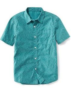 Patterned Poplin Shirt for Boys | Old Navy