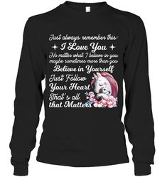 Just Always Remember This I Love You Unicorn Sassy Long Sleeve Outfit Women Funny Sayings Unicorn Long Sleeve Womens
