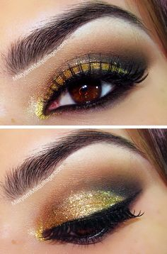 Christmas Party Makeup but you gotta blend the eyebrow line lol New Years?