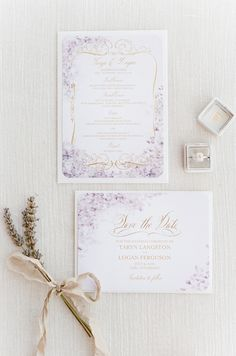 Lavender wedding invitations | Wedding & Party Ideas | 100 Layer Cake