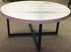 Rustic Reclaimed oak Table with Custom by BlowingRockWoodworks