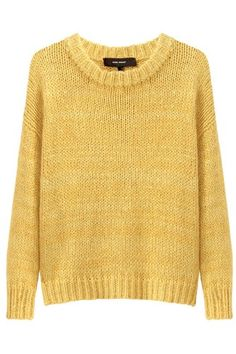 12 Angora Sweaters That Were Practically Made For Cuddling  #refinery29  http://www.refinery29.com/angora#slide-7  Isabel Marant Vadim Chunky Knit, $480, available at La Garçonne.  ...