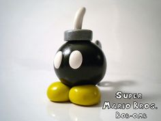 Bob-omb Polymer Clay Desk Buddy - Super Mario Bros - Nintendo - A Portion of the Proceeds Go To Charity