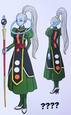 Vados- Similar to Whis, she looks reserved like Whis and kinda evil. Wonder what role she'll have in Dragonball Super.